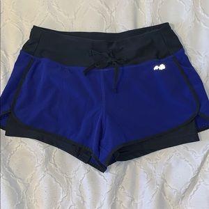 Avia Purple Athletic Shorts w/ Gray Spandex
